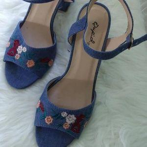 Qupid Floral  Sandals